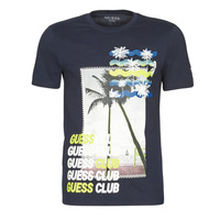 Clothing Men Short-sleeved t-shirts Guess GUESS CLUB CN SS TEE Marine