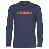 Clothing Men Long sleeved tee-shirts Guess GUESS PROMO CN LS TEE Marine