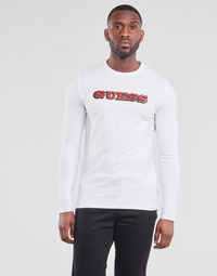 Clothing Men Long sleeved tee-shirts Guess GUESS PROMO CN LS TEE White