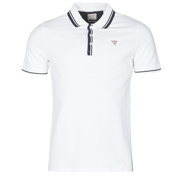 Clothing Men Short-sleeved polo shirts Guess SCOTT SS POLO White