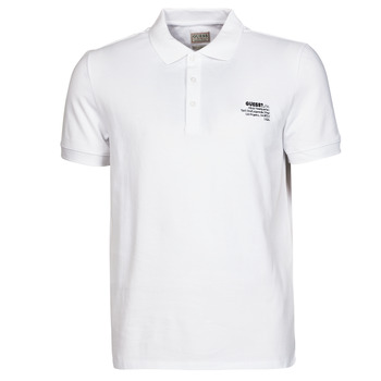 Clothing Men Short-sleeved polo shirts Guess OZ SS POLO White