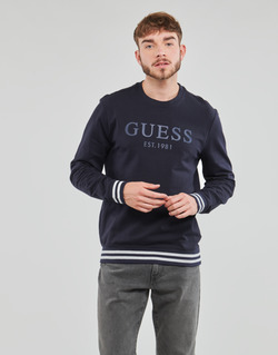Clothing Men Sweaters Guess BEAU CN FLEECE Black