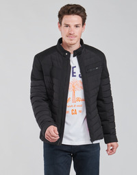 Clothing Men Duffel coats Guess STRETCH MIXED BIKER Black