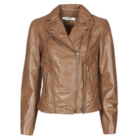 Clothing Women Leather jackets / Imitation leather Naf Naf CAMILLA Cognac