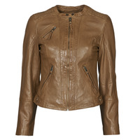 Clothing Women Leather jackets / Imitation leather Naf Naf CTRIBE M Cognac