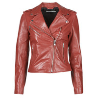 Clothing Women Leather jackets / Imitation leather Naf Naf CHACHA P Red