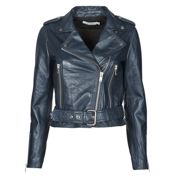 Clothing Women Leather jackets / Imitation leather Naf Naf CANDICE P Marine
