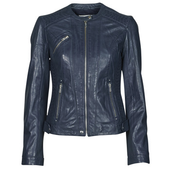 Clothing Women Leather jackets / Imitation leather Naf Naf CZEUS M Marine