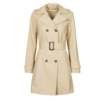 Clothing Women Trench coats Naf Naf BIMATE Beige