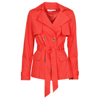 Clothing Women Trench coats Naf Naf BIPARIS Red