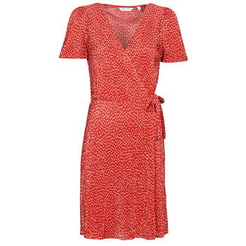 Clothing Women Short Dresses Naf Naf OPLIPOIS R1 Red / White