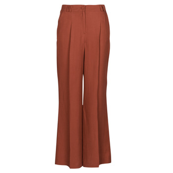 Clothing Women 5-pocket trousers Naf Naf LINONOU P2 Terracotta