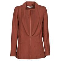 Clothing Women Jackets / Blazers Naf Naf LINONOU V2 Terracotta