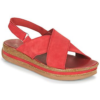 Shoes Women Sandals Think ZEGA Red