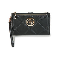 Bags Women Wallets Guess DILLA DOUBLE ZIP ORGANIZER Black