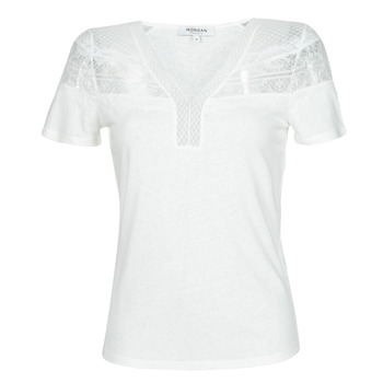 Clothing Women Short-sleeved t-shirts Morgan DIETER White