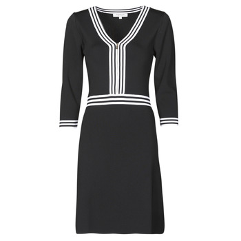 Clothing Women Short Dresses Morgan RMFATA Black / White