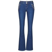 Clothing Women 5-pocket trousers Morgan PFARAH Blue / Raw