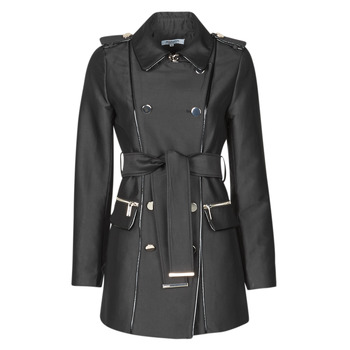 Clothing Women Trench coats Morgan GAZELLE Black