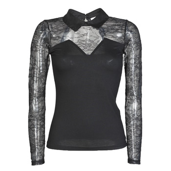 Clothing Women Long sleeved tee-shirts Morgan TELSO Black