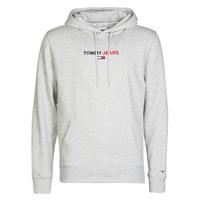 Clothing Men Sweaters Tommy Jeans TJM LINEAR LOGO HOODIE Grey