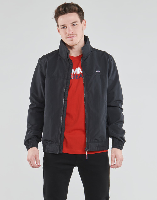 Clothing Men Jackets Tommy Jeans TJM ESSENTIAL CASUAL BOMBER Black