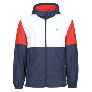 Clothing Men Macs Tommy Jeans TJM NYLON COLORBLOCK WINDBREAKER White / Red / Marine