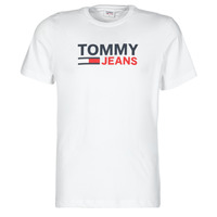Clothing Men Short-sleeved t-shirts Tommy Jeans TJM CORP LOGO TEE White