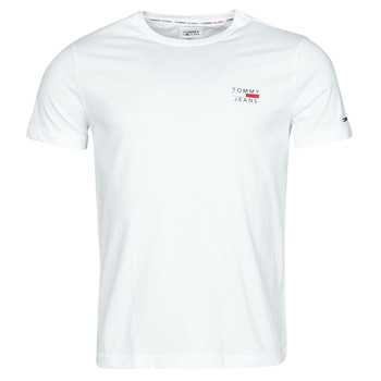Clothing Men Short-sleeved t-shirts Tommy Jeans TJM CHEST LOGO TEE White