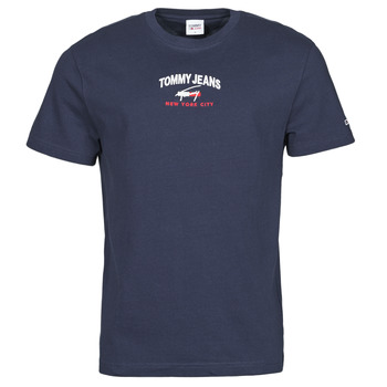 Clothing Men Short-sleeved t-shirts Tommy Jeans TJM TIMELESS TOMMY SCRIPT TEE Marine