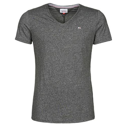 Clothing Men Short-sleeved t-shirts Tommy Jeans TJM SLIM JASPE V NECK Black