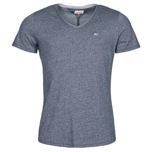 Clothing Men Short-sleeved t-shirts Tommy Jeans TJM SLIM JASPE V NECK Marine