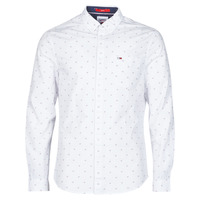Clothing Men Long-sleeved shirts Tommy Jeans TJM DOBBY SHIRT White