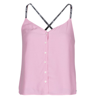 Clothing Women Tops / Blouses Tommy Jeans TJW CAMI TOP BUTTON THRU Pink