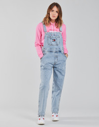 Clothing Women Jumpsuits / Dungarees Tommy Jeans DENIM DUNGAREE TJLLBC Blue / Clear