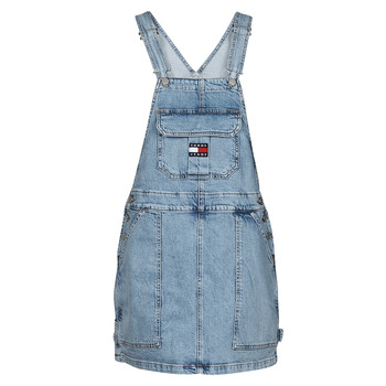 Clothing Women Jumpsuits / Dungarees Tommy Jeans CARGO DUNGAREE DRESS TJLLBC Blue / Clear