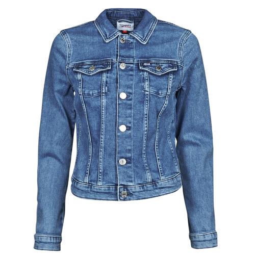 Clothing Women Denim jackets Tommy Jeans VIVIANNE SLIM DENIM TRUCKER NMBS Blue / Medium