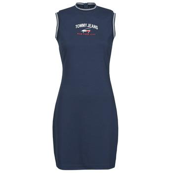 Clothing Women Short Dresses Tommy Jeans TJW TIMELESS SCRIPT DRESS Marine