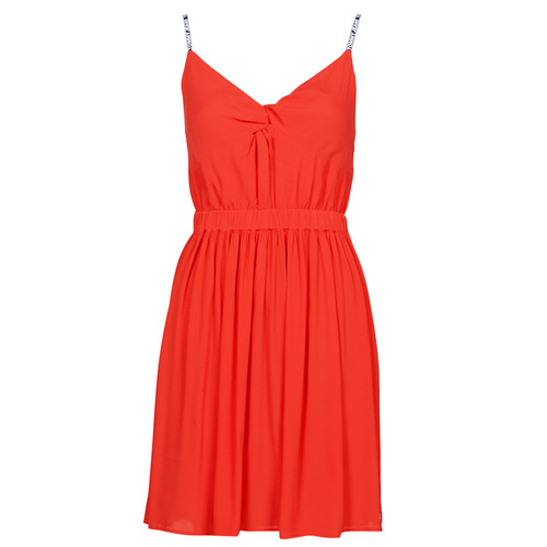 Clothing Women Short Dresses Tommy Jeans TJW ESSENTIAL STRAP DRESS Red