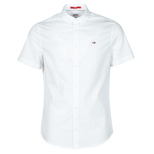 Clothing Men Short-sleeved shirts Tommy Jeans TJM LIGHTWEIGHT TWILL S/S SHIRT White