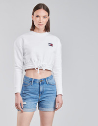 Clothing Women Sweaters Tommy Jeans TJW SUPER CROPPED BADGE CREW White