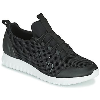 Shoes Men Low top trainers Calvin Klein Jeans RUNNER SNEAKER LACEUP MESH Black