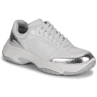 Shoes Women Low top trainers Calvin Klein Jeans CHUNKY SOLE LACEUP PU-PYT PES White / Silver