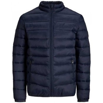 Clothing Men Duffel coats Jack & Jones Magic Puffer Collar 12173752 Blue
