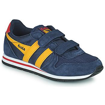 Shoes Boy Low top trainers Gola DAYTONA VELCRO Marine / Yellow
