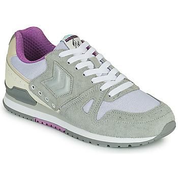 Shoes Women Low top trainers Hummel MARATHONA SUEDE Grey / Purple