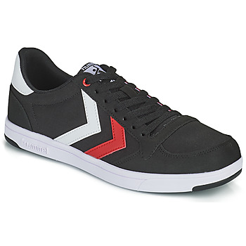 Shoes Men Low top trainers Hummel STADIL LIGHT CANVAS Black / Red