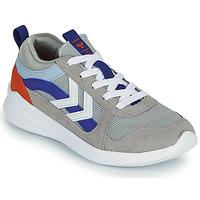 Shoes Children Low top trainers Hummel BOUNCE JR Grey / Blue