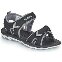 Shoes Children Outdoor sandals Hummel SANDAL SPORT JR Black