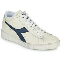 Shoes Hi top trainers Diadora GAME L WAXED ROW CUT White / Blue